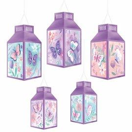 Flutter Hot Stamped Paper Lanterns -5ct