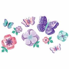 Flutter Floral Paper Wall Decoration