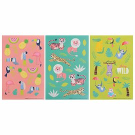 Jungle Animal Value Pack Stickers -12ct
