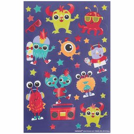 Monster Sticker Sheets -3ct