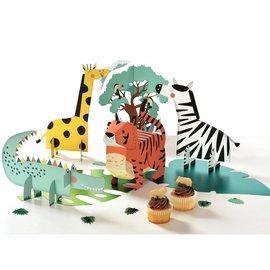Get Wild Birthday Table Centerpiece Decorating Kit