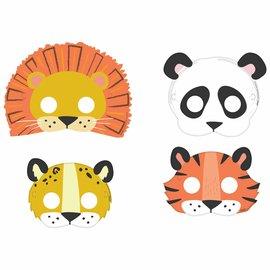 Get Wild Birthday Paper Masks -8ct
