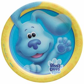 """Blues Clues 9"""" Round Plates -8ct"""