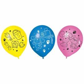 Blues Clues Latex Balloons -6ct