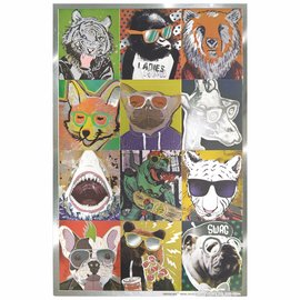 Animal Sticker Sheets -3ct