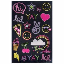 Neon Sticker Sheets -3ct