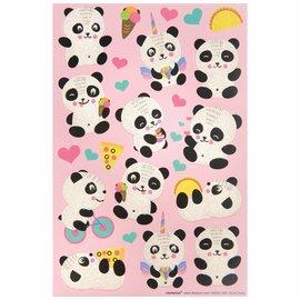 Panda Sticker Sheets -3ct