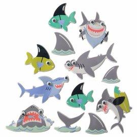 Shark Puffy Stickers
