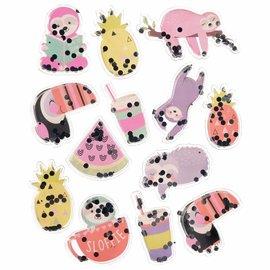 Sloth Shaker Stickers