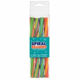Spiral Erasers -4ct