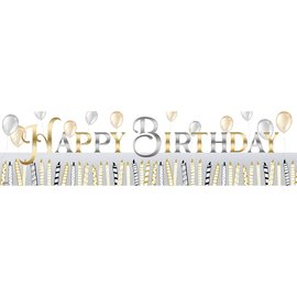 Metallic Birthday Banner