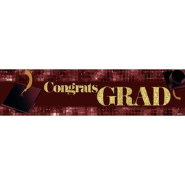 Congrats Grad Banner - Burgandy