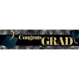 Congrats Grad Banner - Black