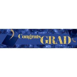 Congrats Grad Banner - Blue