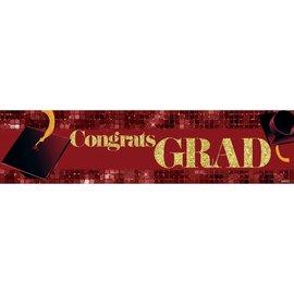 Congrats Grad Banner - Red