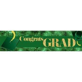 Congrats Grad Banner - Green