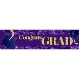 Congrats Grad Banner - Purple