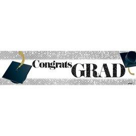 Congrats Grad Banner - White