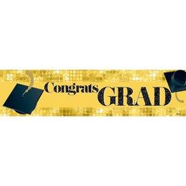 Congrats Grad Banner - Yellow