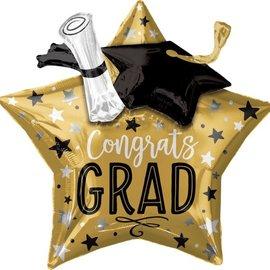 """28"""" Grad Star, Cap, and Diploma"""