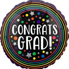 """28"""" Congrats Grad Circles"""