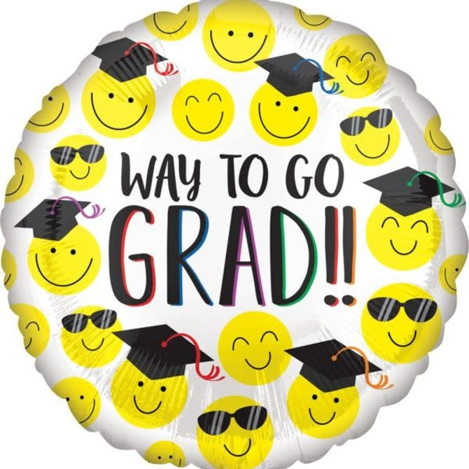 """17"""" Grad Happy Faces"""