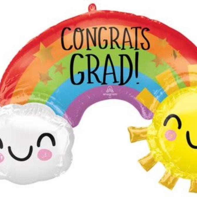"""41"""" Congrats Grad Rainbow"""