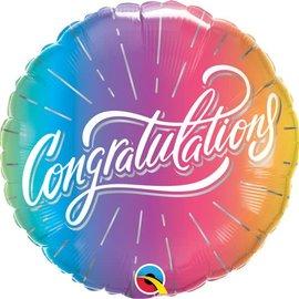 """18"""" Congrats Vibrant Ombre"""