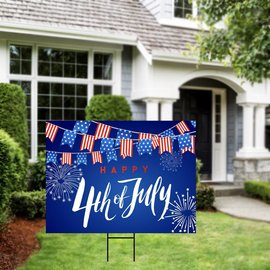 4th Of July Yard Sign