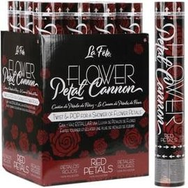 """Flower Petal Cannon - 12"""" Red"""