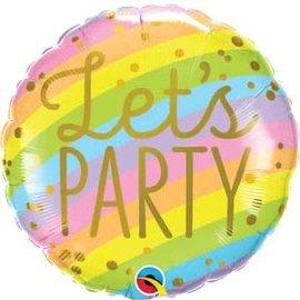 """Let's Party Stripes - 18"""""""