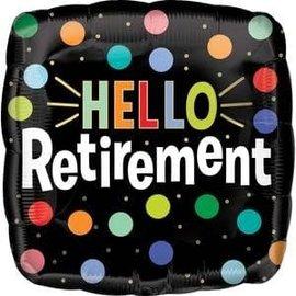 """Hello Retirement Balloon -18"""""""