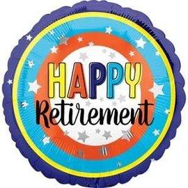 "Happy Retirement Colorful Balloon - 18"""