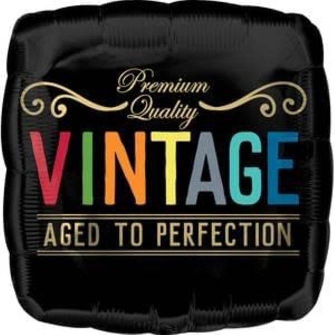 "Aged To Perfection Vintage Birthday Balloon -18"""