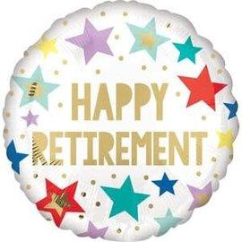 """Retirement White Star VLP Balloons -18"""""""