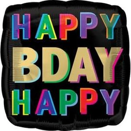 "Happy Birthday Offset Letters Balloon -18"""