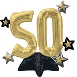 Air Filled Sitting Celebrate 50 Balloon
