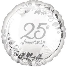 "Happy 25th Anniversary Balloon  - 18"""