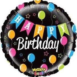 "Mighty Banner Birthday Balloon - 21"""