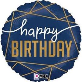 """Navy Birthday Balloon - 18"""""""