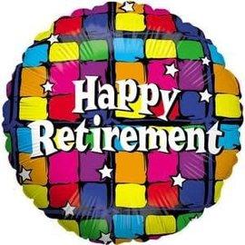 """Happy Retirement Balloon Multi Colored - 18"""""""