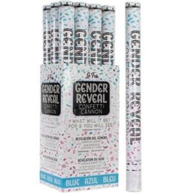 """24"""" Gender Revel Confetti Cannon - Blue"""