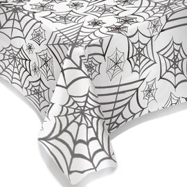 Spider Web Plastic Table Cover - Clear