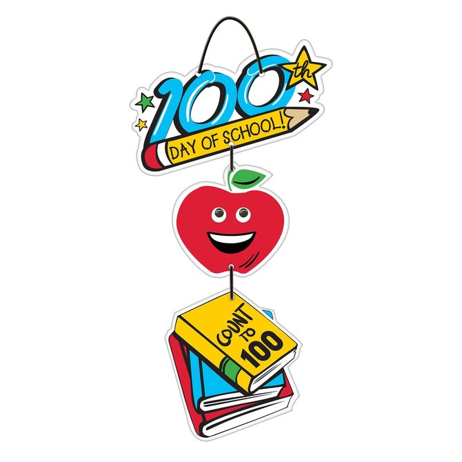 100th Day Of School Hanging Sign