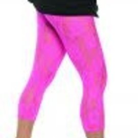 80's Lace Leggings Neon Pink