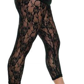 80's Lace Leggings Black
