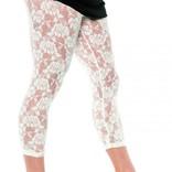 80's Lace Leggings White