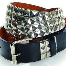 Punk Belt Studded Black/Sliver O/S