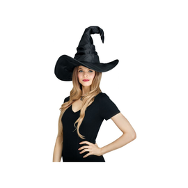 Curved Black Witch Hat
