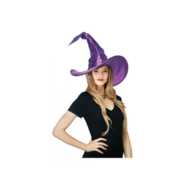 Curved Purple Witch Hat